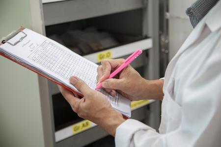 bank records: Checking stock blood bank.