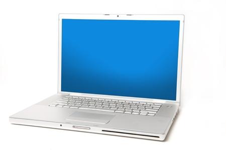 trackpad: Laptop on White Background