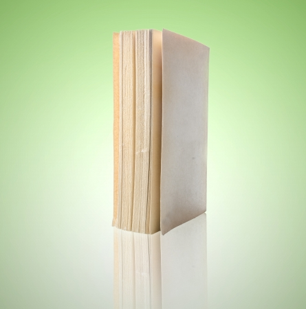 book isolated on green background