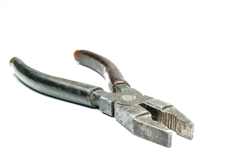 pinchers:  Metal pliers Stock Photo