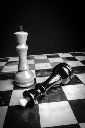 Chess board black   white