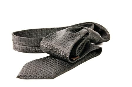 black necktie isolated on white background Stock Photo - 17921300