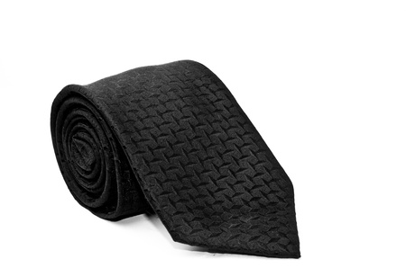 black necktie isolated on white background  photo