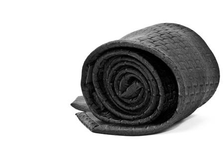 black necktie isolated on white background  Stock Photo - 17912151