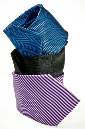 Tie set, three elegant ties  photo