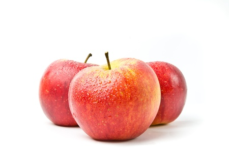 red apples isolated on the white  Stock Photo