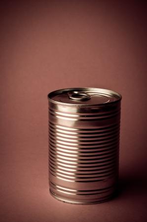 Tin Can in retro colours  Stock Photo