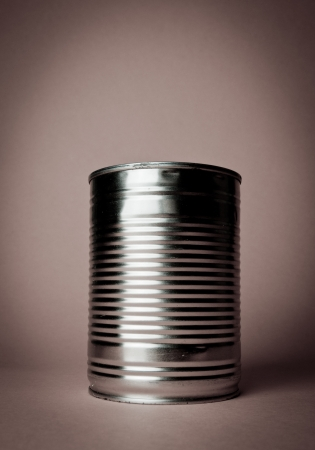 Tin Can in retro colours  Stock Photo