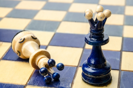 chellange: Chess piece  Game over  Stock Photo