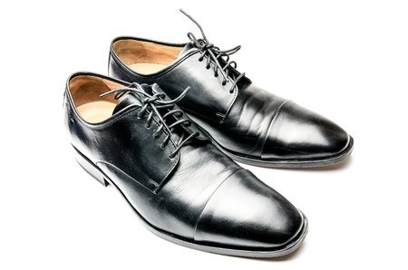 The black man s shoes isolated on white background   Stock Photo - 17921299