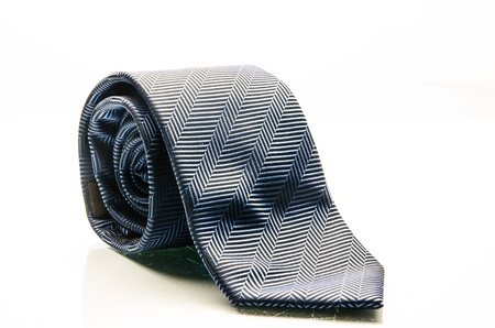 dark Blue tie isolated on white  Stock Photo