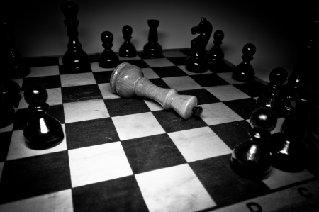Chess game over  photo