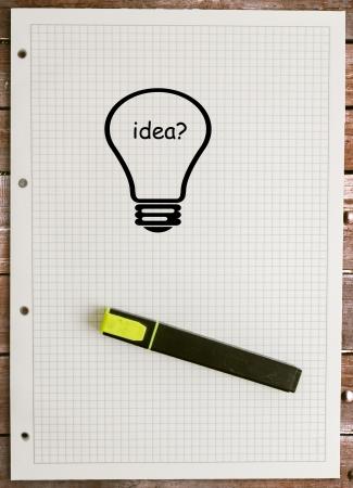 vel papier en idee Stockfoto