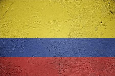 Columbian grunge flag