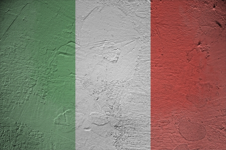 Italy flag on wall