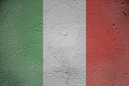 Italy flag on wall