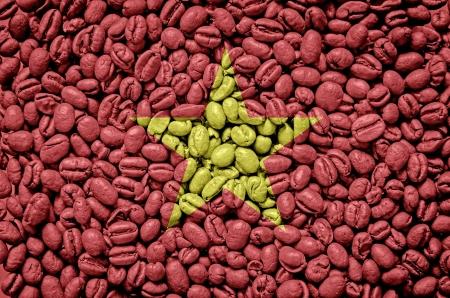 Vietnam flag on cup of coffee 版權商用圖片 - 18029755