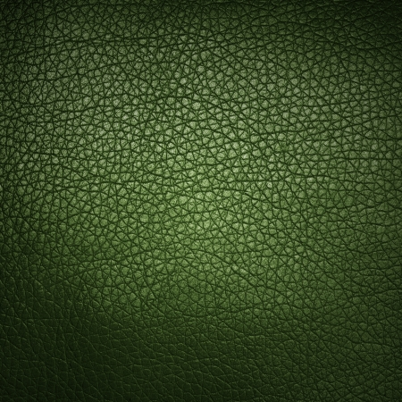 Green leather background or texture  photo