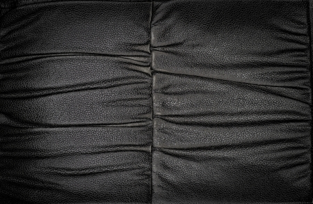Black leather seat  Stock Photo - 18606413