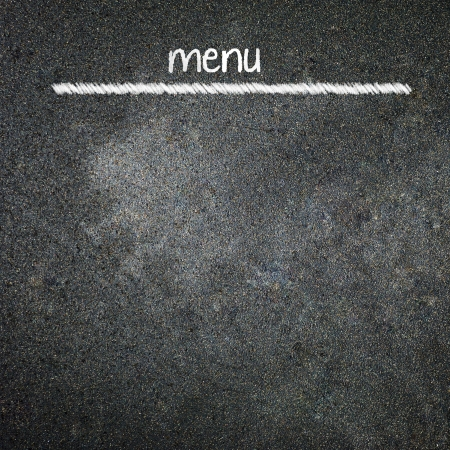 blankness: Menu title written with chalk on blackboard