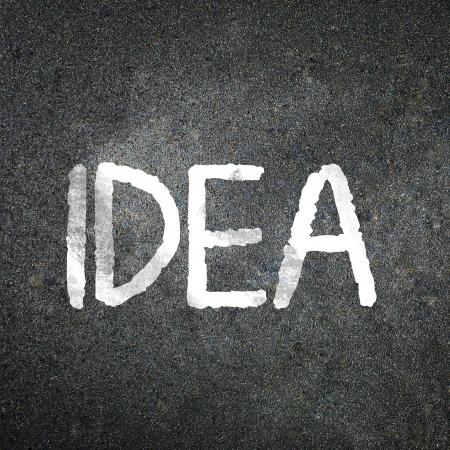 The word idea Stock Photo - 18606267