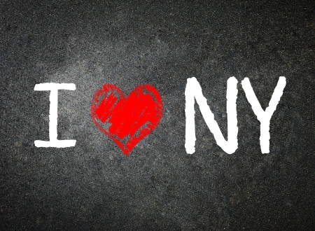 I love New York, written by a teacher on a blackboard   photo