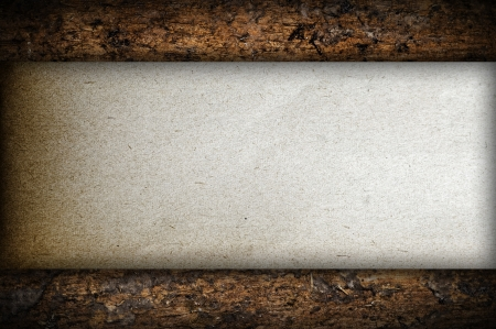 Paper on wood background Stock Photo - 18606507