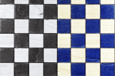 Chess board divided for two colors Stock Photo - 18606289
