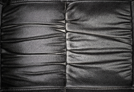 Black leather seat background photo