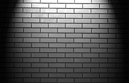 Spotlight On Brick Wall Photo