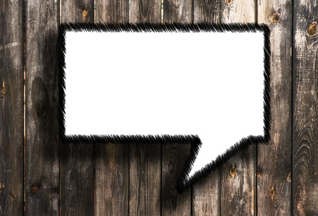 speech bubbles on wooden background  photo