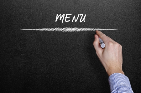 blankness: Menu title written hand written  Stock Photo