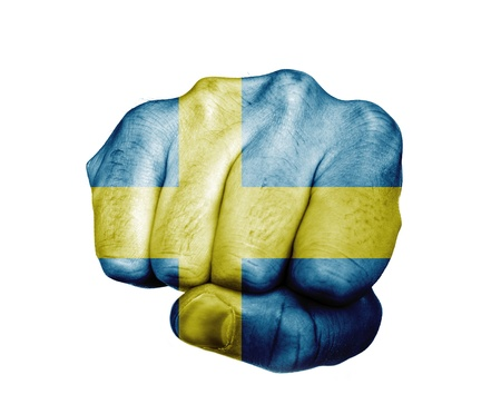 Fist of Sweden 版權商用圖片 - 19261227