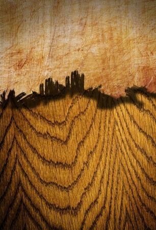gebroken houten bord twee soorten hout