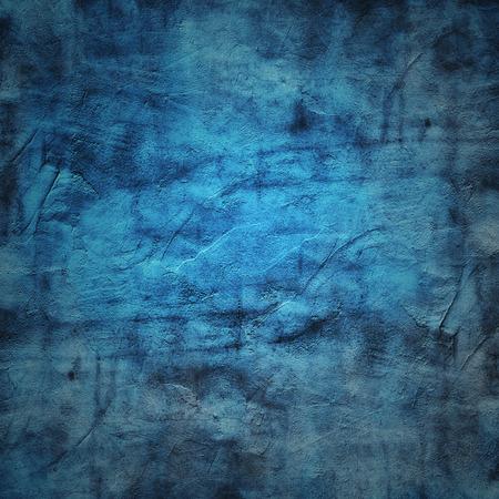 Grain blauwe verf muur achtergrond of textuur