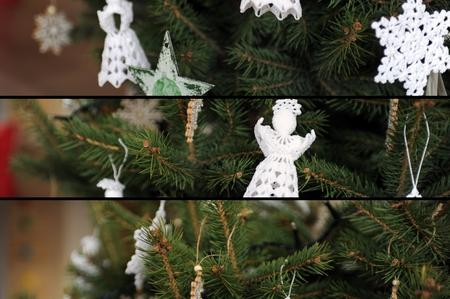 Christmas background - Christmas tree Stock Photo