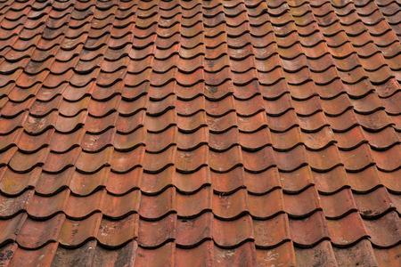 spanish tile: Spanish tile roof. Background texture Mediterranean architectural details.