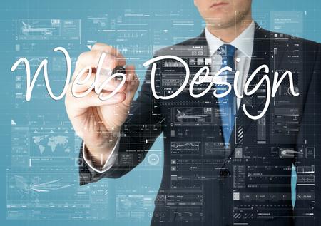 css: businessman writing web design
