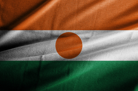 Niger waving flag Stock Photo