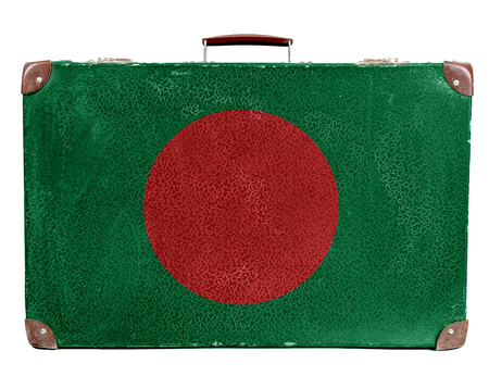 Vintage travel bag with flag of Bangladesh