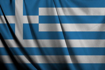 cotton velvet: Greece waving flag