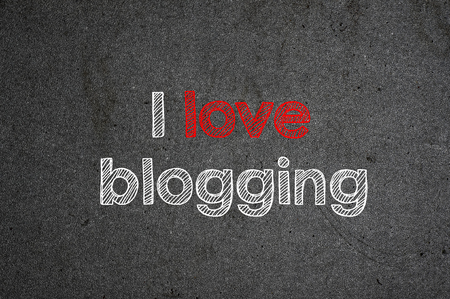 I love blogging handwritten with white chalk on a blackboard.