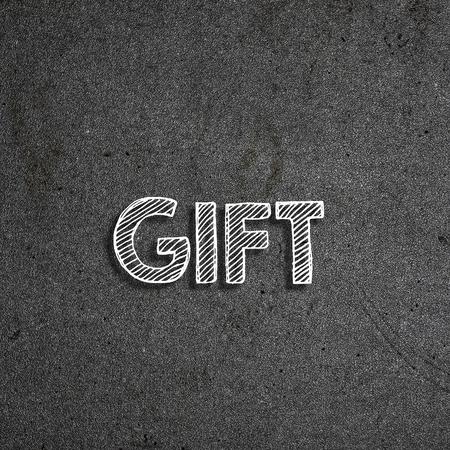 Gift written on a chalkboard 版權商用圖片