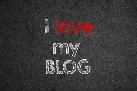 I love my blog handwritten with white chalk on a blackboard.