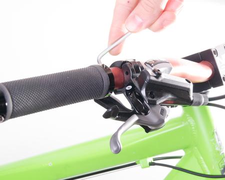 bicycle repair bicycle or preparing for the season, regulation control levers