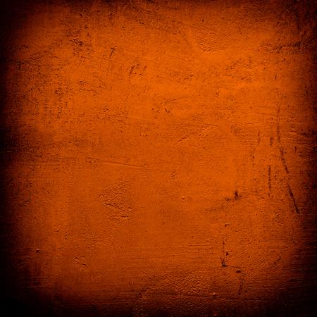 Grunge dark Orange wall background
