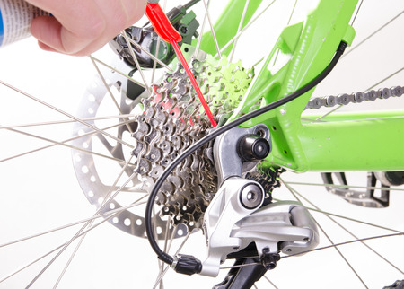 power wrench: bicycle repair bicycle or preparing for the season, derailleur adjustment