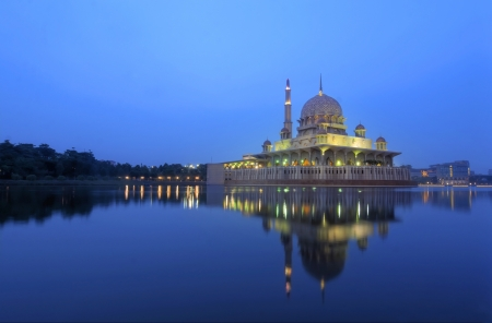 putrajaya mosque and the reflection