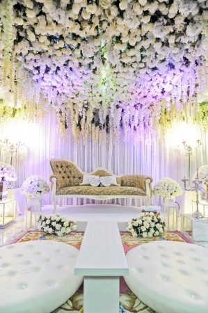 solemnization: beautiful and simple stage for solemnization