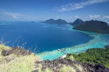 panorama view from bohey dulang peak